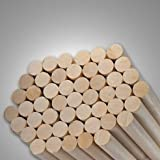 Pack of 20 Round Hardwood Dowel Rods 1/2'' Dia x 36'' Long 7308U C.C. White