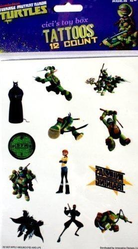 Amazon.com: Teenage Mutant Ninja Turtles Tattoos 12 Count ...