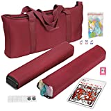 American Mah Jongg Mahjong Set by F2C - 166 Tiles, 4 Colors All-in-One Rack/Pushers, Red Paisley Soft Bag and Accessories -Classic Full Size Complete Mahjongg Mah Jong Set