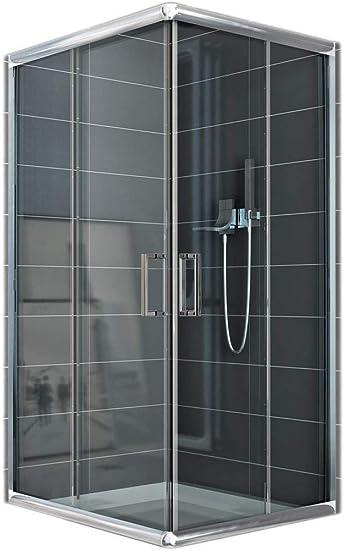 Mampara de ducha rectangular transparente, 70 x 90 x 185 cm, 6 mm de grosor: Amazon.es: Bricolaje y herramientas