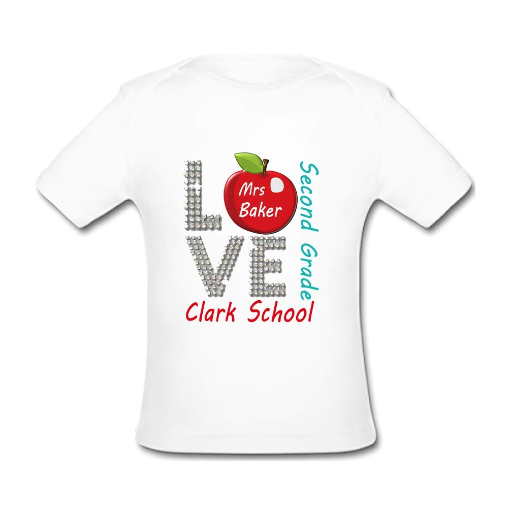 BrowneOLp Love School Baby Organic Short Sleeve T-Shirt White