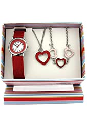 The Olivia Collection Kids Luv Heart Watch & Jewellery Gift Set For Girls KS004