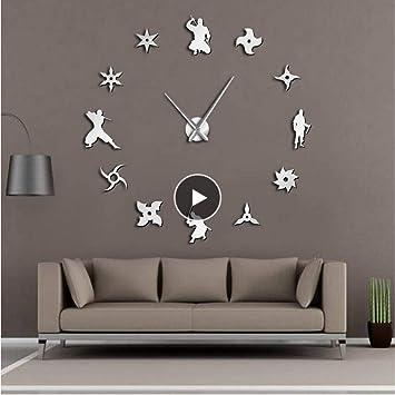 Amazon.com: KUKUALE Shinobi Japon Ninja DIY Giant Wall Clock ...