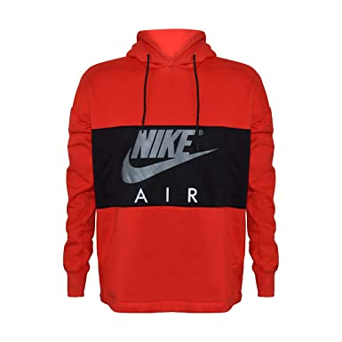 best value info for los angeles Nike Men's Air Logo Sportsewar Hooded Sweatshirt (Red/Black ...