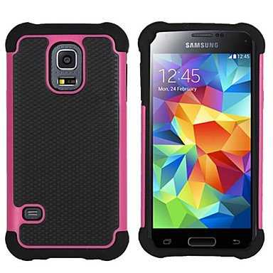 Hybrid Rugged Rubber Silicon+PC Shockproof 2 In 1 Hard Cover Cases For Samsung Galaxy S3 Mini/S4 Mini/S5 Mini/S5 Active ( Color : Rose , Compatible Models : Galaxy S5 Mini )