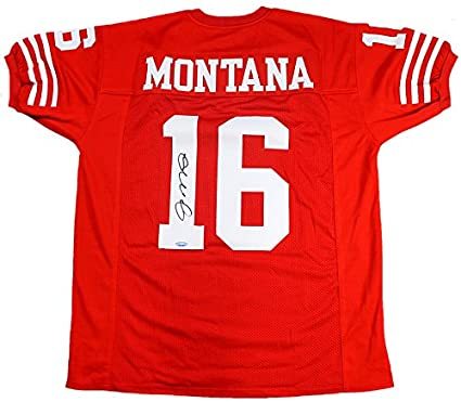 3bf4fd42437 Joe Montana Signed Autographed San Francisco 49ers Custom Red Jersey  TRISTAR COA at Amazon s Sports Collectibles Store