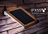 46 LED Outdoor Solar Wall Light- Motion Activated Security Lighting- ...
