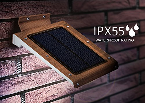 Stone Accent Strip - 46 LED Outdoor Solar Wall Light- Motion Activated Security Lighting- Wireless Exterior Lantern- Weatherproof Aluminum Fixture- Super Bright Spotlight for Patio, Pool, Yard, Deck, Porch (Copper)
