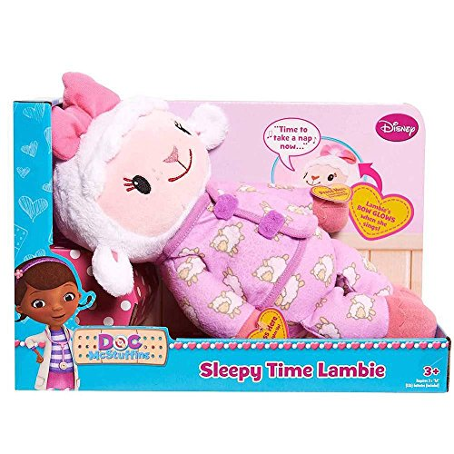 Disney Doc McStuffins - Cuddle Me Lambie Sleepy Time Lambie - Press Lambies Left Hand She Talks and Sings as Her Bow Lights Up. Press Lambies Other Hand and Her Bow will Glow -