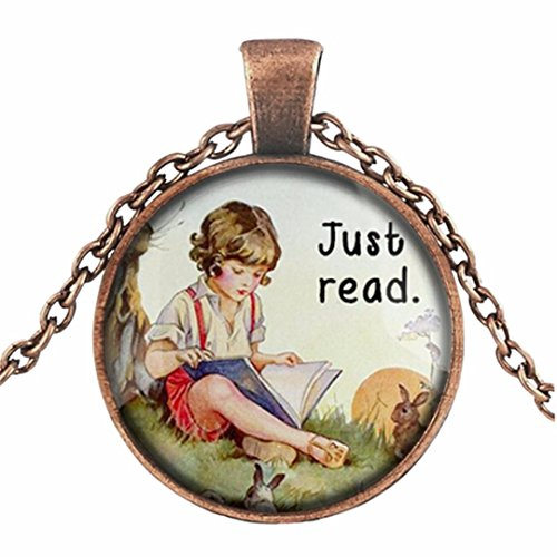 (Botrong Book Lover Gifts '' So Many Books, So Little Time '' Clock Art Sweater Chain (G))