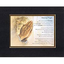 Touching and Heartfelt Poem for Inspirations - Serenity Prayer Poem on 11 x 14 inches Double Beveled Matting (Black on Gold)