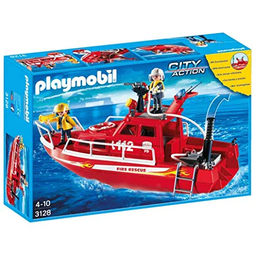 Playmobil Fire Rescue Boat With Pump (C) ()
