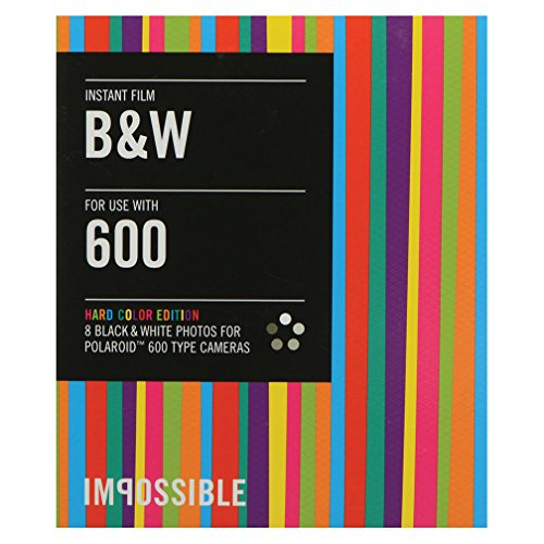 The Impossible Project Black & White Film for Type 600 Cameras with Hard Color Frames (5-Pack Bundle) by Impossible