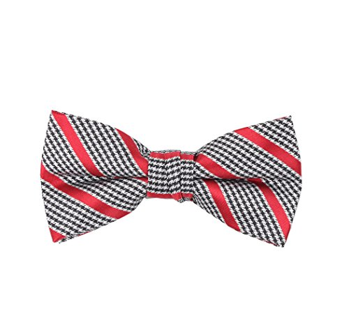 Born to Love - Boys Kids Pre Tied Bowtie Christmas Holiday Party Dress Up Bow Tie (Large, Black Red (Boys Dress Up Ideas)