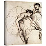 ArtWall 'Two Dancers Resting' Gallery-Wrapped Canvas Artwork by Edgar Degas, 18 by 18-Inch