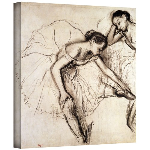 ArtWall 'Two Dancers Resting' Gallery-Wrapped Canvas Artwork by Edgar Degas, 24 by 24-Inch