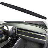 Tesla Model 3 Dashboard Wrap Leather Matte Black