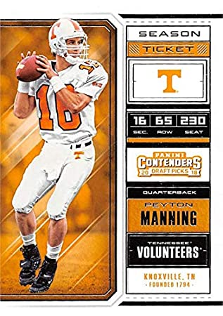 super popular a56e2 676a6 Peyton Manning football card (Tennessee Volunteers) 2018 ...