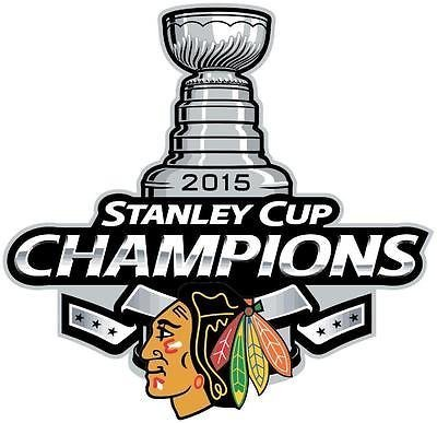 "Chicago Blackhawks 2015 Stanley Cup Champions X-Small 1.75"" Decal"