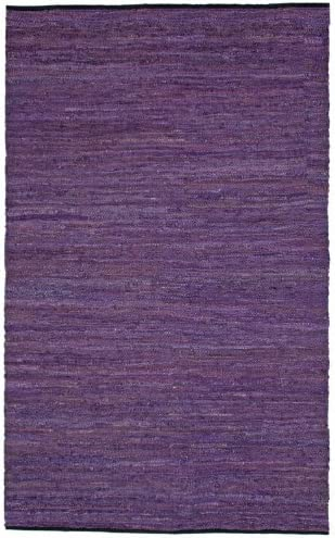 Purple Leather Matador 4 x6 Rug