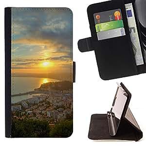For Samsung Galaxy J3(2016) J320F J320P J320M J320Y,S-type Naturaleza Hermosa Forrest Verde 68 - Dibujo PU billetera de cuero Funda Case Caso de la piel de la bolsa protectora