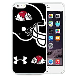 Beautiful Designed With NCAA Big South Conference GardnerWebb Runnin Bulldogs 3 Protective Cell Phone Hardshell Cover Case For iPhone 6 Plus 5.5 Inch White