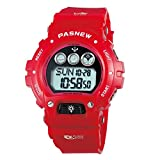 Digital Multi-Function Sports Water Resistant Backlight Wrist Watches Children Boys Girls (Red)