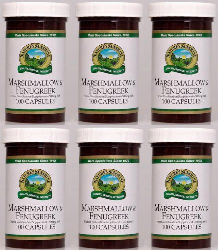 Naturessunshine Marshmallow & Fenugreek Respiratory System Support 100 Capsules (Pack of 6)