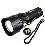 Comunite-1200-Lumen-Zoomable-Cree-XM-L-T6-Super-Bright-Led-Flashlight-Torch-Lamp-Adjustable-with-White-TubePowered-By-1pcs-26650-Or-3pcs-AA-Battery-FlashlightNot-Included