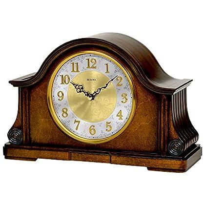 Image of Bulova B1975 Chadbourne Old World Clock, Walnut Home and Kitchen