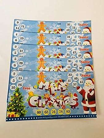 Christmas Theme Tambola Tickets
