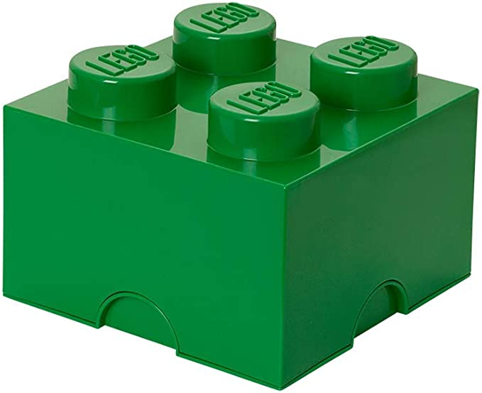 Lego 40031734 - Caja de almacenamiento para bloques de construcción color verde parchís: Amazon.es: Juguetes y juegos