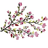 RoomMates RMK2408SCS Blossom Branches Peel and Stick Wall Decals, Pink, 1-Pack