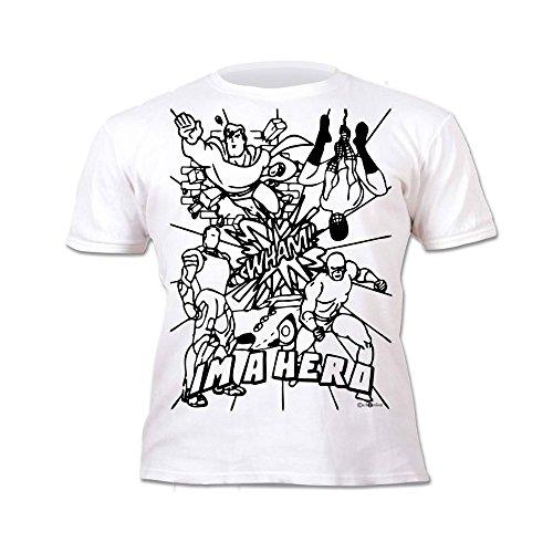 Buena Splat Planet Camiseta HÉROE para niños. Con impresión para ...