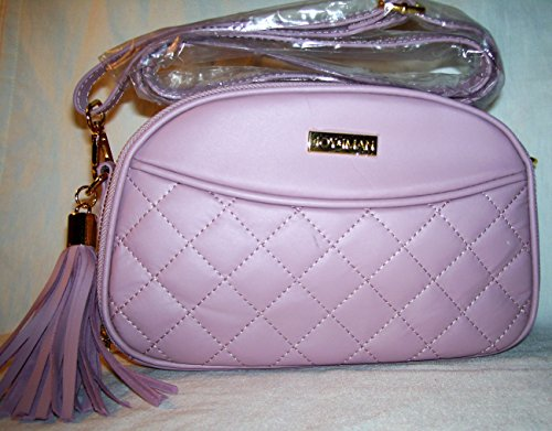 Joy & Iman, Diamond Quilted Genuine Leather Crossbody Bag with RFID, Blush