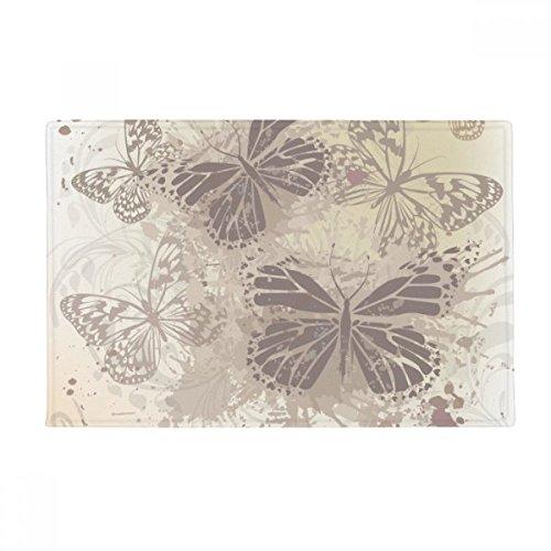 Elegant Vintage Grey Butterfly Wallpaper Anti-slip Floor Mat Carpet Bathroom Living Room Kitchen Door 16''x30''Gift by beatChong