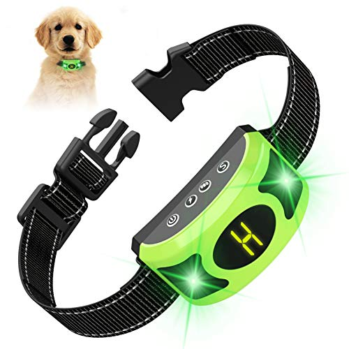 VALOIN 【2019 Upgraded Dog Barking Collar with Breathing Light, Smart Dog Training Anti Bark with Beep Vibration Harmless Shock for Small Medium Large Dogs,Rechargeable and - Collar Automatic Dog Bark