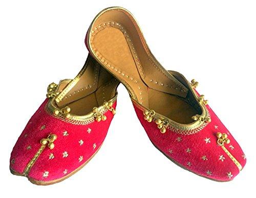 Stile Le Dicono Ghungroo N Etnico Casual Ballerina Jutti Mojari Rosa Pink A Scarpe Step rosa S sandali Khussa Da Donne Punjabi Donna UAgqnwgzE