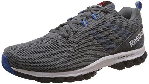 Reebok Sublite Super Duo 2.0 Zapatillas de deporte, Hombre Gris / Azul / Blanco / Negro (Alloy/Coal/Blue Sport/White/Black)