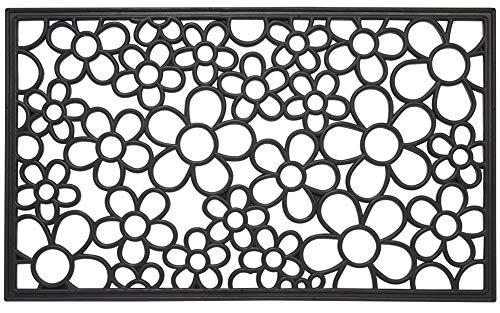 Envelor Home and Garden Floral Wrought Iron Rubber Door Mat 18