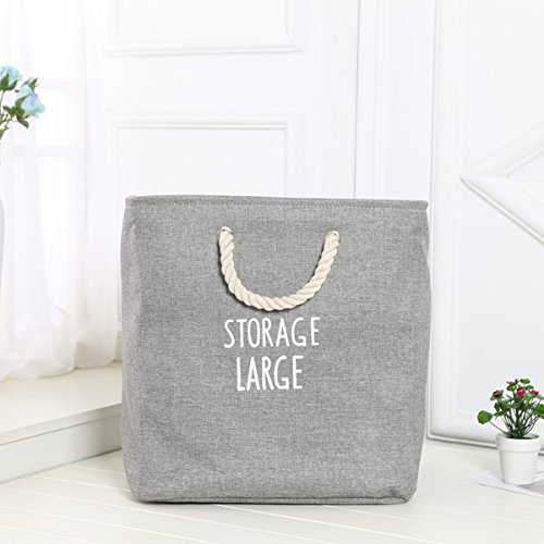 Gobuy Linen & Cotton Collapsible Storage Bin Toys Organization