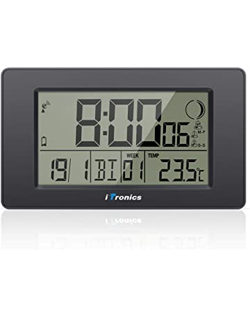 Office & School Supplies 2019 Neuestes Design Neue-moderne Digitale Wecker Lcd Display Kalender Snooze Thermometer Wecker Büro Desktop Tisch Uhr Kalender
