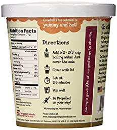 Straw Propeller Gourmet Foods Natural Gourmet Oatmeal, Peaches and Berry Bramble, 2.7 Ounce (Pack of 12)