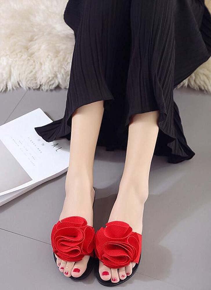 Frauen Frauen Frauen Hausschuhe und Flip-Flops Flache Ferse Offene Zehe für Casual Sommer Comfort Schwarz Rot Grün Rosa Größe 35-39 B07C75SLJZ Kletterschuhe Viel Spaß 3338e9