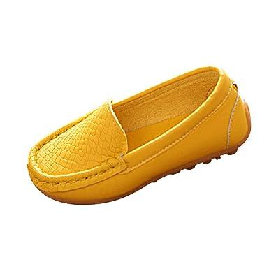 Tenthree Zapatos Zapatillas Deporte Antideslizante - Niño Niña Mocasines Pisos Mocasines Cuero Caminar Guisantes Oxford Antideslizante Casual Niños Bote ...