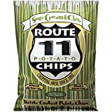 Route 11 Sour Cream N Chives Potato Chips, kettle cooked in small batches, peanut-free (4 bags (6 oz each))