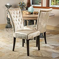 Paulina Champagne Dining Chair (Set of 2)
