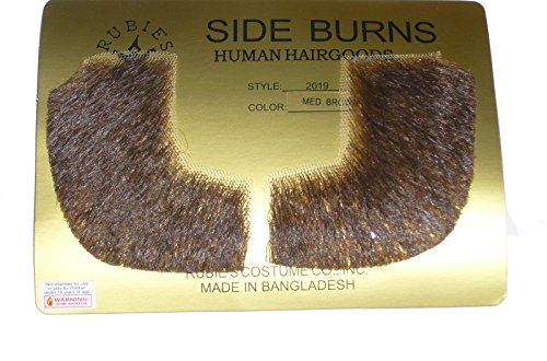 2019 (Med brown) Human Hair Pork Chop Sideburns -