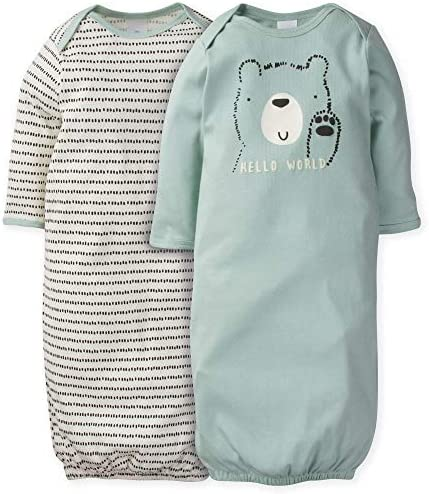 GERBER Baby Boys 2 Pack Gown product image