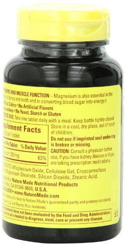 031604017187 - Nature Made Magnesium 250mg, 200 Tablets carousel main 3